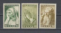 SARRE . YT 347/349 Neuf ** Au Profit Des Oeuvres Populaires 1955 - 1947-56 Occupation Alliée