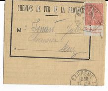 """1930 - SEMEUSE BANDE PUB """"D.U RENSEIGNE LE CHEF D'AFFAIRE"""" ISSUE De CARNET / LETTRE De BARREME - CHEMINS DE FER PROVENCE - Pubblicitari"""