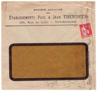 Timbre Perforé Sur Lettre - Lettres & Documents