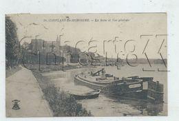 """Conflans-Sainte-Honorine (78) : MP De La Péniche """"L'Aspe"""" Amarrée Au Quai De Seine En 1919 (animé) PF. - Conflans Saint Honorine"""