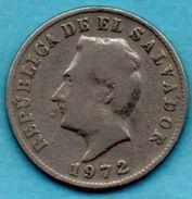 C4/  EL SALVADOR  5 Centavos 1972 Km#134 - Salvador