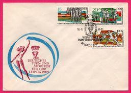 FDC - Athlétisme - Deutsches Turn Und Sportfest Der DDR Leipzig - Berlin - 1969 - Sellos