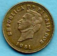 C4/  EL SALVADOR  1 Centavo 1981 Km#135;2a - Salvador
