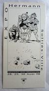 HERMANN INVITATION EXPO Musée SOLLIES Ville 1998 1 A.LI.EN - Livres, BD, Revues