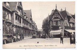 CPA Deauville 14 Calvados La Plage Fleurie Rue De L' Ecluse Au Printemps Vieux Tacots éditeur LL N°107 - Deauville
