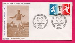 FDC - Football - Coupe De France De Football 1977 - 60e Anniversaire De La Coupe De France De Foot - Paris - Football