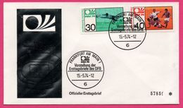 FDC N° 57859 - Football - Weltmeisterschaft 1974 - FIFA WORLD CUP - Frankfurt Am Main 1 - Ersttagsbrief - Coppa Del Mondo