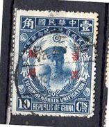1929 Manchuria Very Fine Used 10 Cents (752) - Manchuria 1927-33