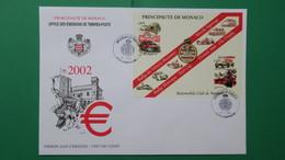 Monaco, Année  2002   Enveloppe 1 Er  Jour  N° BF86 - FDC