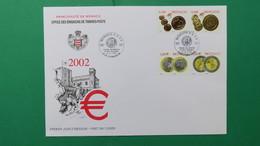 Monaco, Année  2002   Enveloppe 1 Er  Jour  N° 2356 à 2359 - FDC