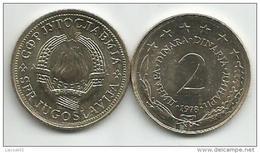 Yugoslavia 2 Dinara 1978. KM#57 AUNC - Joegoslavië