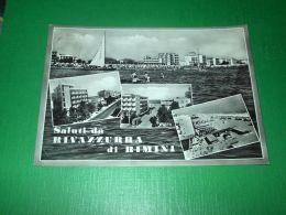 Cartolina Saluti Da Rivazzura Di Rimini - Vedute Diverse 1961 - Rimini