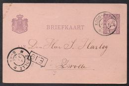 KOOG - PAYS BAS - NETHERLANDS / 1899 ENTIER POSTAL POUR ZWOLLE  (ref LE1370) - Periode 1891-1948 (Wilhelmina)