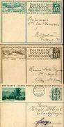 22877 Switzerland, 3 Differents Stationery 1930 Circuled, See Scan - Postwaardestukken