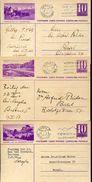 22879 Switzerland, 3 Differents Stationery 1930 Circuled, See Scan - Postwaardestukken