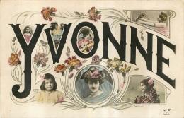 PRENOM  YVONNE AVEC BELLES ILLUSTRATIONS - Prénoms