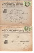 TP 83 (4) S/2 L.En-Tête Evrard-Delvigne Bois-Menuiserie St.Servais(Namur) C.Namur En 1909/12 V.E/V JS51 - 1893-1907 Wapenschild