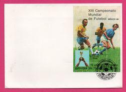 Bloc Timbre - Football - XIII Campeonato Mundial De Futebol Mexico 1986 - 1985 - 15 Anos Da Conquista - World Cup