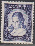 """Österreich 1952:  """"Intern.Kinderkorrespondenz""""  983 LUXUS Postfrisch - 1945-.... 2nd Republic"""