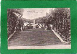 Gibraltar - GENERAL ELLIOT'S    MONUMENT  TRES ANIMEE  CPA  1910 état Impeccable - Gibilterra