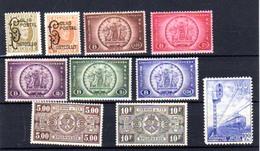 1933-34    Colis-postaux, Colis Express, Armes Du Royaume, CF 168/69 - 205/209 - 211/21 - 263**, Cote 115 €, - 1923-1941
