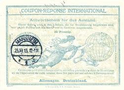 DT 394 -- ALLEMAGNE Coupon Réponse International ( IRC) 25 Pfennig - MANNHEIM 1913 - Germania