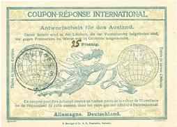 DT 395 -- ALLEMAGNE Coupon Réponse International ( IRC) 25 ( Manuscrit) Pfennig - MUNCHEN 1925 - Germania