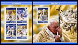 GUINEA 2017 - Pope John-Paull II. M/S + S/S. Official Issue - Popes