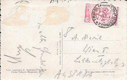 TRIPOLI LIBIA ITALIANA LIBYA 1933 A WIEN AUTRICHE CARTE POSTALE AVEC TIMBRES ARRACHES 1933 - Libië