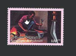 DJIBOUTI ARTISANAT HAND WORK CRAFT ART HANDWORK MARTEAU HAMMER FORGERON BLACK-SMITH KNIFE Michel 751 2000 MNH ** - Djibouti (1977-...)
