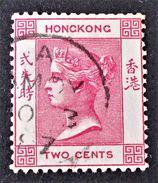 VICTORIA 1882/92 - OBLITERE - YT 33 - ROSE CARMINE - Hong Kong (...-1997)
