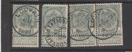 COB 53 Oblitéré LOUVAIN + Station - 1893-1907 Coat Of Arms