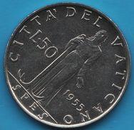 CITTA' DEL VATICANO 50 LIRE 1955 KM# 54 Pie XII - Vaticano (Ciudad Del)