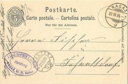 """PK 26  """"Handlung Locher, Bad Ragaz"""" - Fehraltdorf           1905 - Entiers Postaux"""