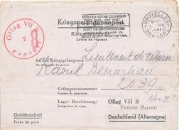 335/25 - Prisonniers Belges - Lettre De Réponse Bruxelles Vers OFLAG VII B En 1941 - Censure Du Camp - Brieven