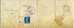 FRANCE 1924 Enveloppe Venissieux > Gex Ain  Rhone - Storia Postale