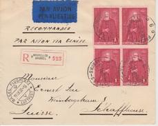Belgie  Luchtpost Aangetekend Brussel _ Paris _ Geneve  1930 Pracht - Airmail