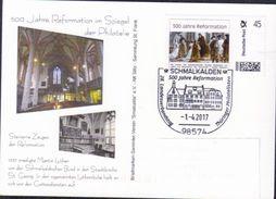 Deutschland SSt. Schmalkalden '500 J. Reformation' / Germany Pmk. '500th Ann. Of Reformation' 2017 - Christianity