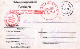 346/25 - Prisonniers Belges - Formulaire Du STALAG XIII C En 1940 Vers ST AUBIN Florennes - Censure Du Camp - Brieven