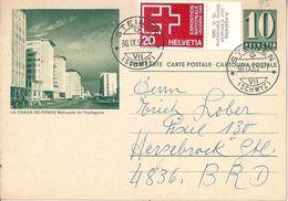 """PK 193   """"La Chaux-de-Fonds Métropole De L'horlogerie""""            1963 - Stamped Stationery"""