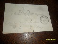 1869 - YONNE !! -Lettre TAXEE -IND/13 ****- OBL/C.a.Date PERLEE  **** CUSSY LES FORGES-2 Photos - 1801-1848: Précurseurs XIX