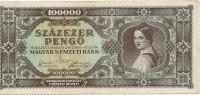 HONGRIE 100000  PENGO 1945 VF P 121 - Ungheria