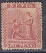 Nevis N° 12 X Armoirie De La Colonie 1 P. Rouge  Trace De Charnière Sinon TB - Great Britain (former Colonies & Protectorates)