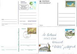 4152x: Vier Ganzsachen- Belege Österreich Und UNO Wien - 1991-00 Covers