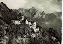 LIECHTENSTEIN-SCHLOSS VADUZ-CHATEA-au Verso Timbre Leonardo Da Vinci - Liechtenstein