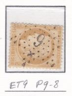 Etoile 9 P9-8 Sur 55 - Marcophilie (Timbres Détachés)