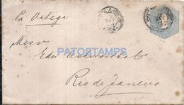 74378 CHILE PUNTA ARENAS COVER YEAR 1906 CIRCULATED TO BRAZIL NO POSTAL STATIONERY POSTCARD - Chile