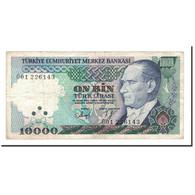 Turquie, 10,000 Lira, 1989, KM:200, TTB - Turquie