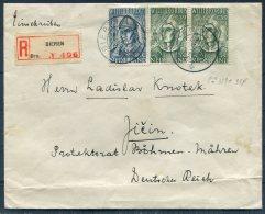 1939 Netherlands Dieren Registered Willbrordus BOSCHWIJK Cover - Bohemia Moravia, Deutsches Reich - Period 1891-1948 (Wilhelmina)