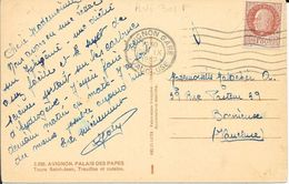 VAUCLUSE   - AVIGNON GARE      - FLAMME AVI 301 F   -  1942 TIMBRE PETAIN 1,50F - Mechanical Postmarks (Advertisement)